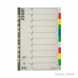 Separadores Plásticos Archivables Oficio 10 Unid. Colores