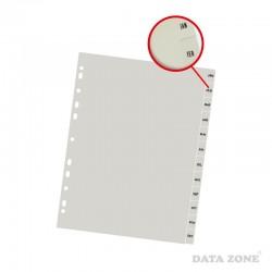 Separadores Plásticos Archivables A4 12 Unid. Meses