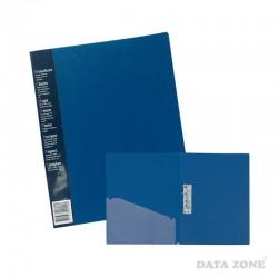 Carpeta Oficio c/Apretador y Bolsillo Azul