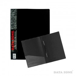 Carpeta A4 c/Clip Gusano y Bolsillo Negro