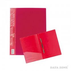 Carpeta A4 c/Clip Gusano y Bolsillo Rojo