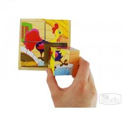 Puzzle Cubo Granja