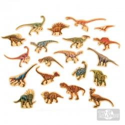 Dinosaurios Magnéticos Madera