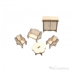 Mueble Miniatura Armable Living