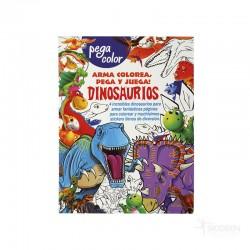 Libro Pega Color Dinosaurios