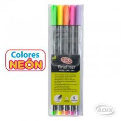 Fineliner 6 colores Neón