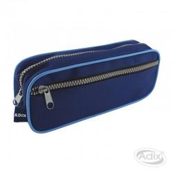 Estuche Escolar Azul Con Bolsillo
