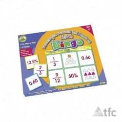 Bingo Porcentaje, Decimal y Fracción