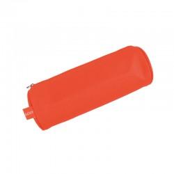 Estuche Escolar Rojo Neon Doble Cierre
