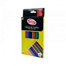 Lápices de Colores Jumbo 12U + Sacapuntas
