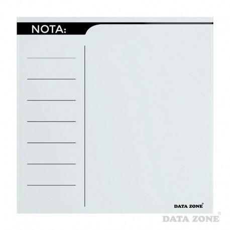 Planificador de Notas Magnético de Vidrio 40x40 Blanco