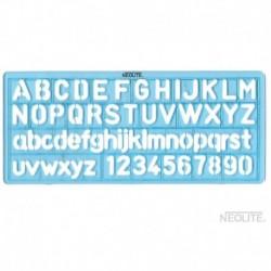 Plantilla de Letra y Números Chica de 10 mm
