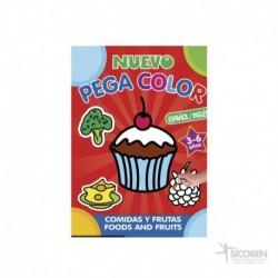 Libro Pega Color Comidas y Frutas