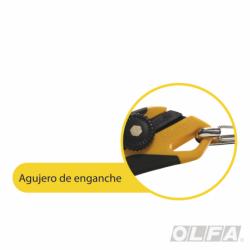 Cuchillo Industrial con Incrustación Antideslizante, Agujero de Enganche y Seguro Automático