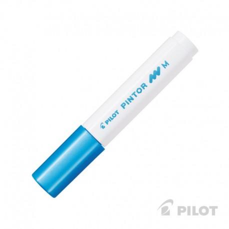 Marcador PINTOR Medio Azul Metálico