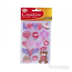 Sticker Goma Eva Corazón