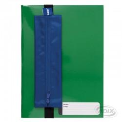 Estuche con Elástico para Cuaderno Azul