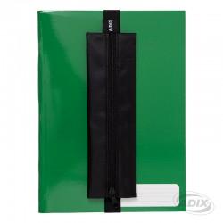 Estuche con Elástico para Cuaderno Negro