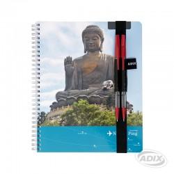 Portalápiz con elástico para cuaderno