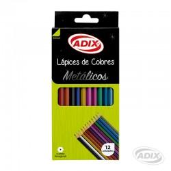 Lápiz Metálico 12 Colores