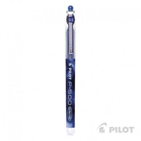 Lápiz Gel PILOT P-500 Punta Extra Fina 0.5 mm Azul