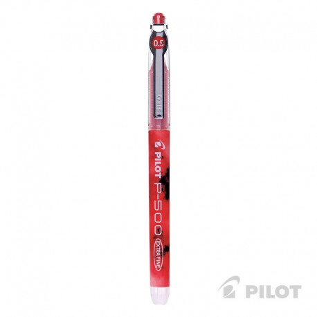Lápiz Gel PILOT P-500 Punta Extra Fina 0.5 mm Rojo
