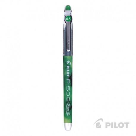 Lápiz Gel PILOT P-500 Punta Extra Fina 0.5 mm Verde