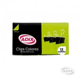 Clip Doble 15mm 12u Negro