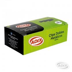 Clip Doble 32mm 12u Negro