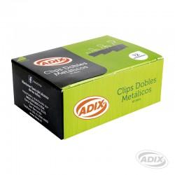 Clip Doble 41mm 12u Negro