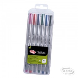 Fineliner 6 colores