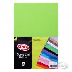 Goma Eva 20x30 cm 10u Verde Claro