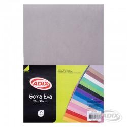 Goma Eva 20x30 cm 10u Gris