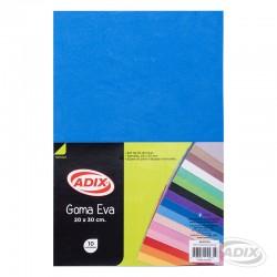 Goma Eva 20x30 cm 10u Azul