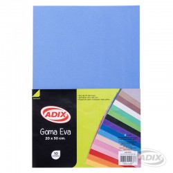 Goma Eva 20x30 cm 10u Celeste