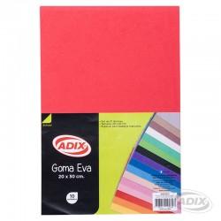 Goma Eva 20x30 cm 10u Rojo