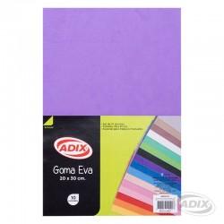 Goma Eva 20x30 cm 10u Violeta