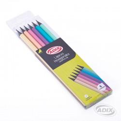 Lápices Hexagonales Cuerpo Color Pastel