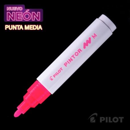 Marcador PINTOR Medio Neón Rosado