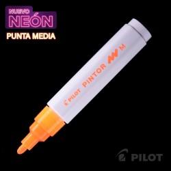 Marcador PINTOR Medio Neón Naranjo