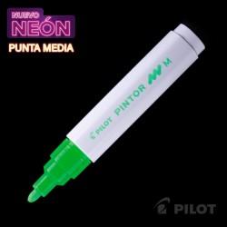 Marcador PINTOR Medio Neón Verde