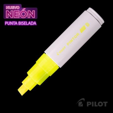 Marcador PINTOR Biselado Neón Amarillo