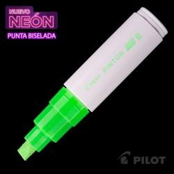 Marcador PINTOR Biselado Neón Verde