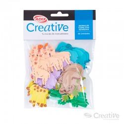 Animal Goma Eva Adhesiva 48u CREATIVE