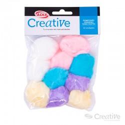Pompón Color Pastel Grande 10u CREATIVE