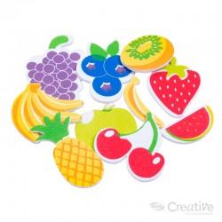 Fruta Goma Eva Adhesiva 40u CREATIVE
