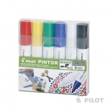 Set Pintor Medio 6u Surtido PILOT