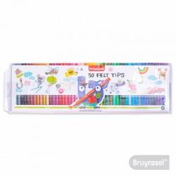 Marcadores 50 Colores BRUYNZEEL