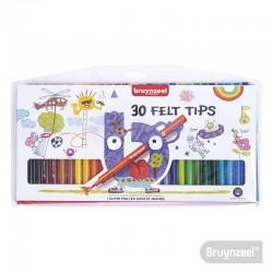 Marcadores 30 Colores BRUYNZEEL