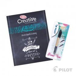 Libro Lettering Creative con Brush Pen Twin Doble